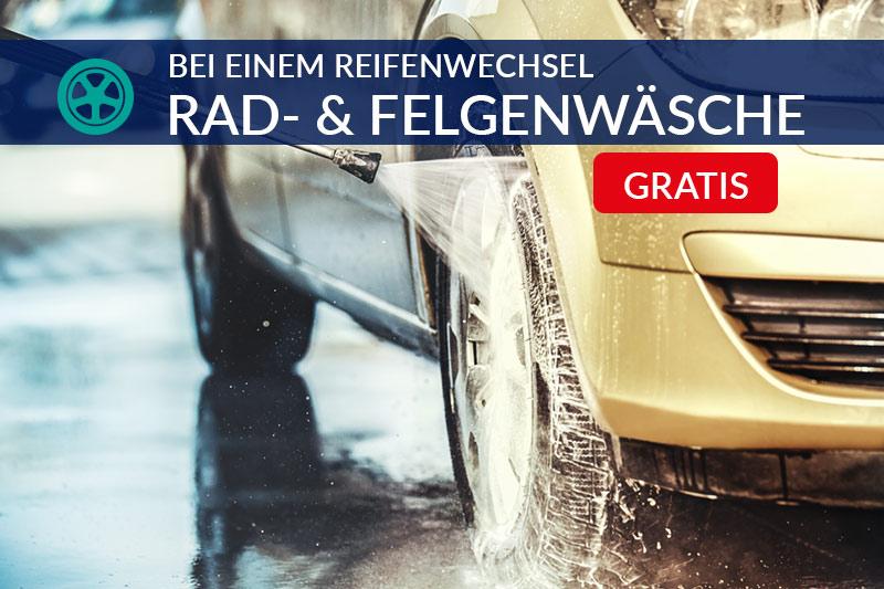Reifenwechsel und Felgenwäsche